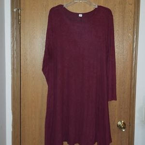 Burgandy sweater dress